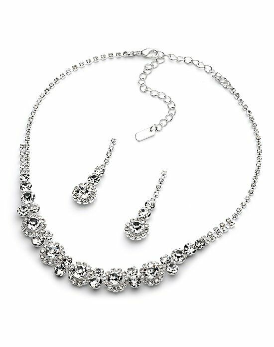 USABride Jenna Rhinestone Jewelry Set JS-1557 Wedding Necklace photo
