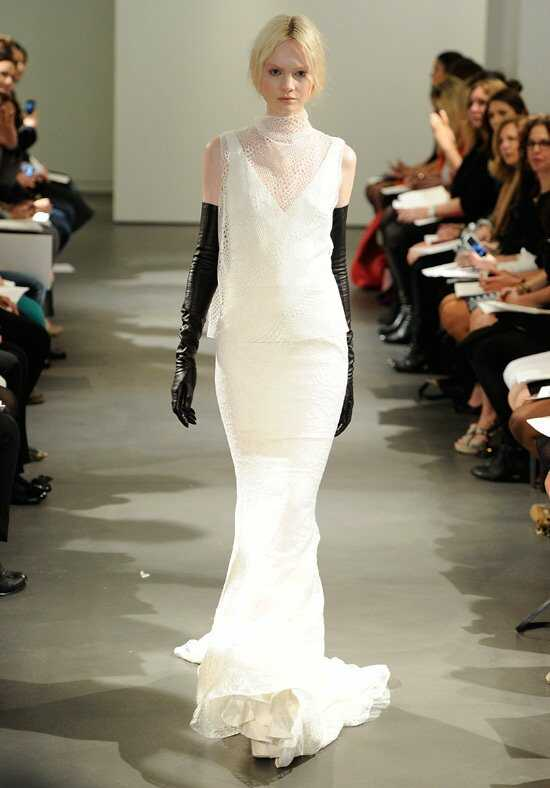 Vera Wang Spring 2014 Look 3 Sheath Wedding Dress