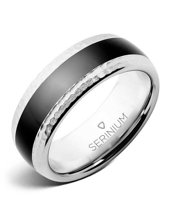 Serinium® Collection Hip Hop — Serinium® & Black Diamond Ceramic™ Ring-RMSA002207 Serinium® Wedding Ring