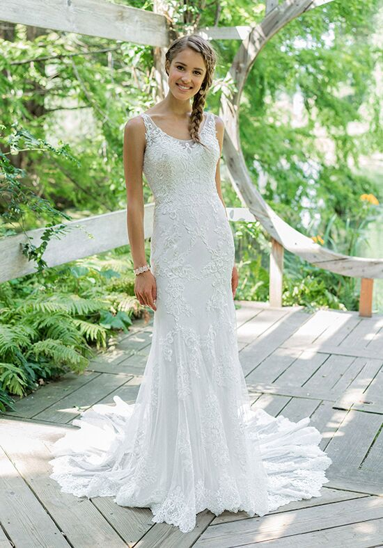 Lillian West 66004 Sheath Wedding Dress