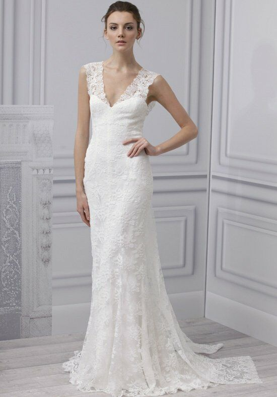 Monique Lhuillier Sincere Sheath Wedding Dress