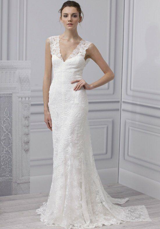 Monique lhuillier lace wedding dress scarlet
