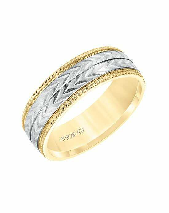 ArtCarved 11-D36489YW-G.00 White Gold, Gold Wedding Ring