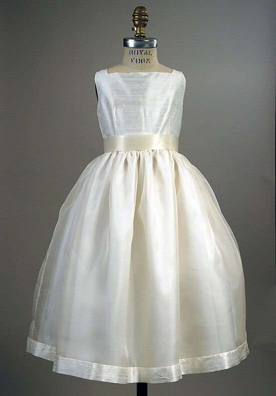 Elizabeth St. John Children Joanne Ivory Flower Girl Dress