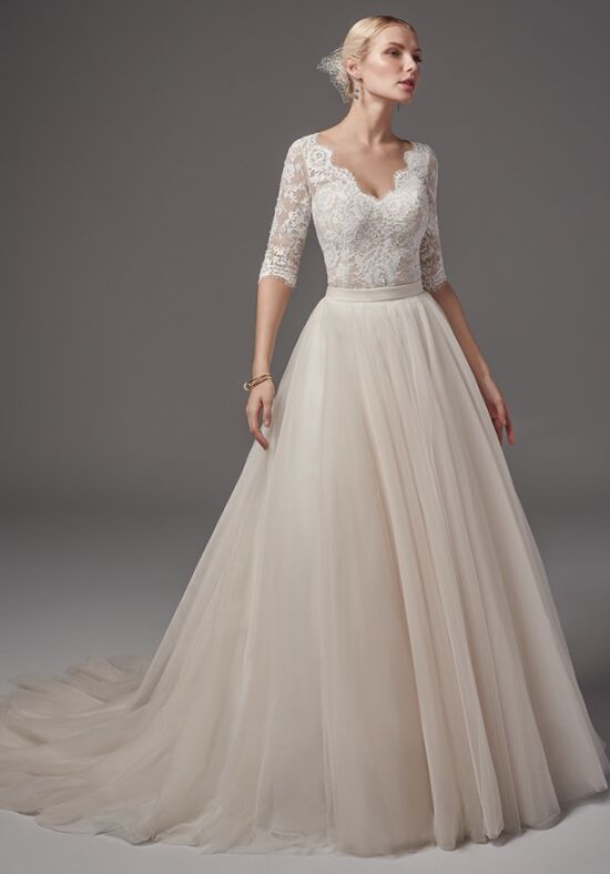 Sottero and midgley kensington bodysuit with kallin skirt for Wedding dress bodysuit and skirt