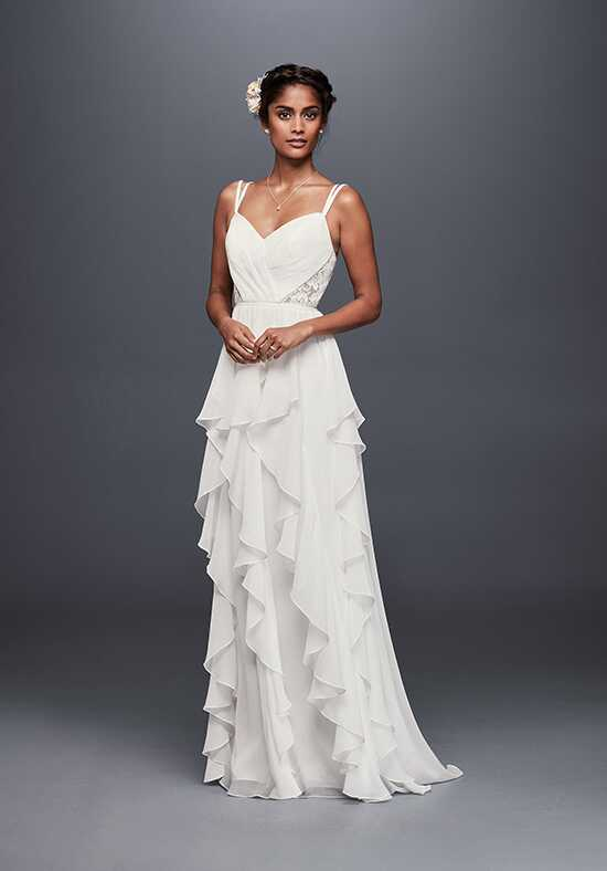 David's Bridal Galina Style WG3824 Sheath Wedding Dress