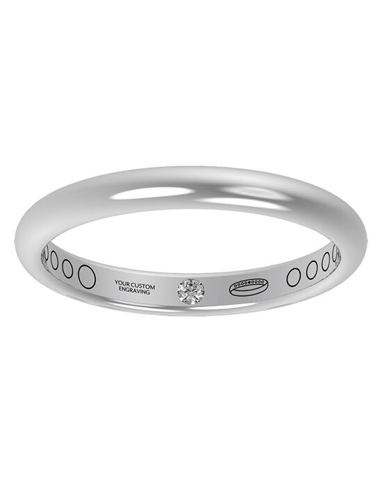Everband 2.5mm Classic Gold, Platinum, White Gold, Rose Gold Wedding Ring