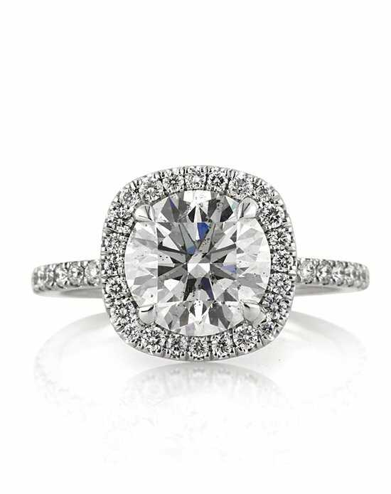 Mark Broumand Elegant Round Cut Engagement Ring