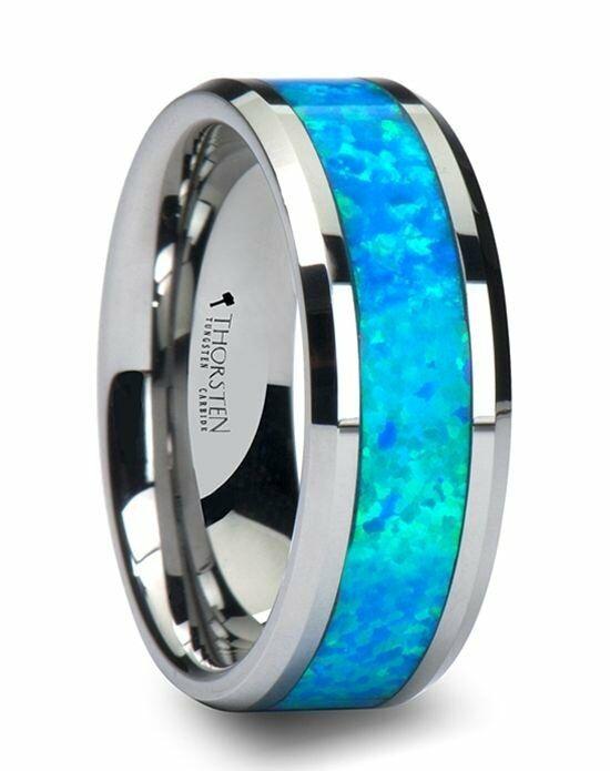 Larson Jewelers Quasar Tungsten Wedding Band With Blue