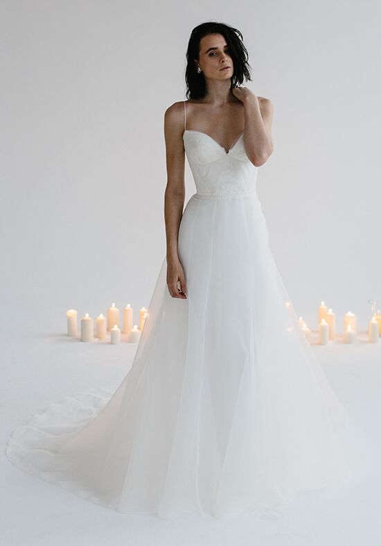 KAREN WILLIS HOLMES Primrose & Parker A-Line Wedding Dress