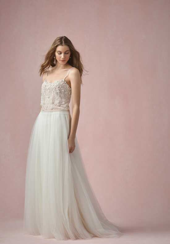 Willowby by Watters Pearl Tank (Lined) 55620M / Amora Skirt 55612 A-Line Wedding Dress