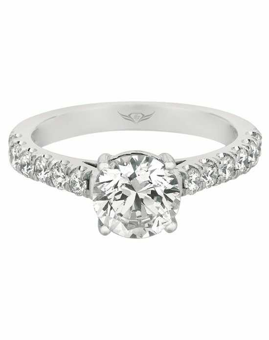 FlyerFit by Martin Flyer Round Cut Engagement Ring