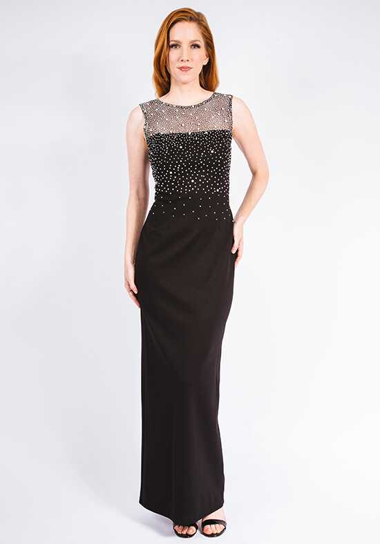 Grayse Wedding Party Pearl Ponte Gown - W142P001 Black Mother Of The Bride Dress