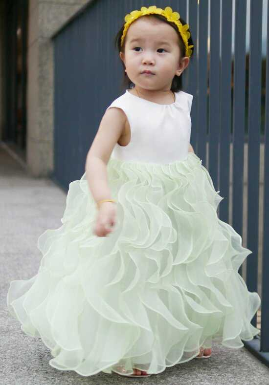 Eden Princess 12382 Green Flower Girl Dress