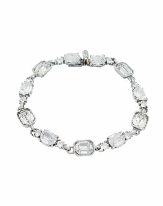 Thomas Laine Ben-Amun Classic Hollywood Crystal Bracelet Wedding Bracelet photo
