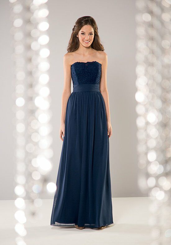 B2 by Jasmine B163055 Strapless Bridesmaid Dress