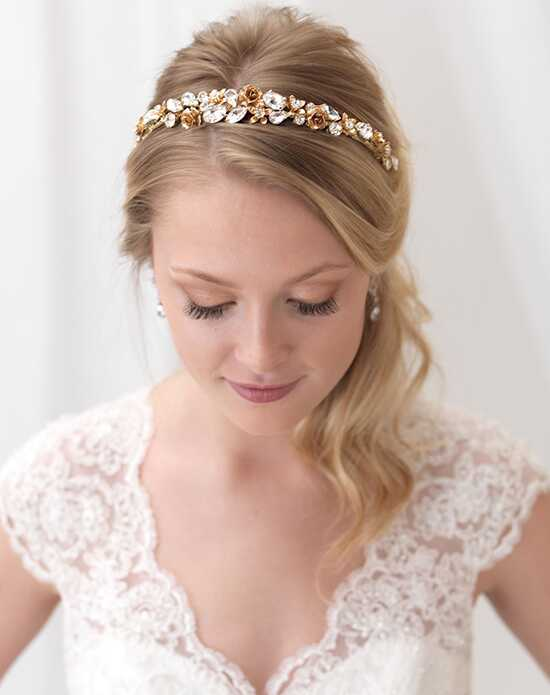 USABride Golden Bloom Headband TI-3321-G Gold Headband