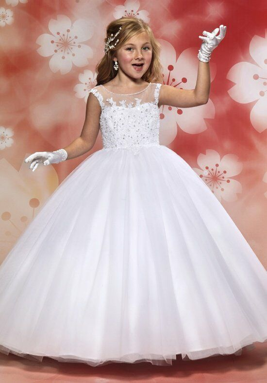 Cupids by Mary's F405 White Flower Girl Dress