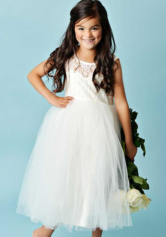 FATTIEPIE Elizabeth-tea Ivory Flower Girl Dress