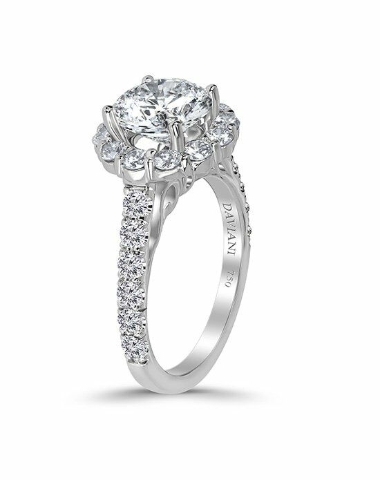 Daviani Love Links Collection DCR1053 White Gold Wedding Ring