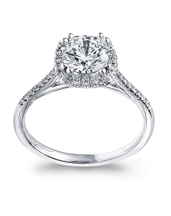 Coast Diamond Elegant Round Cut Engagement Ring