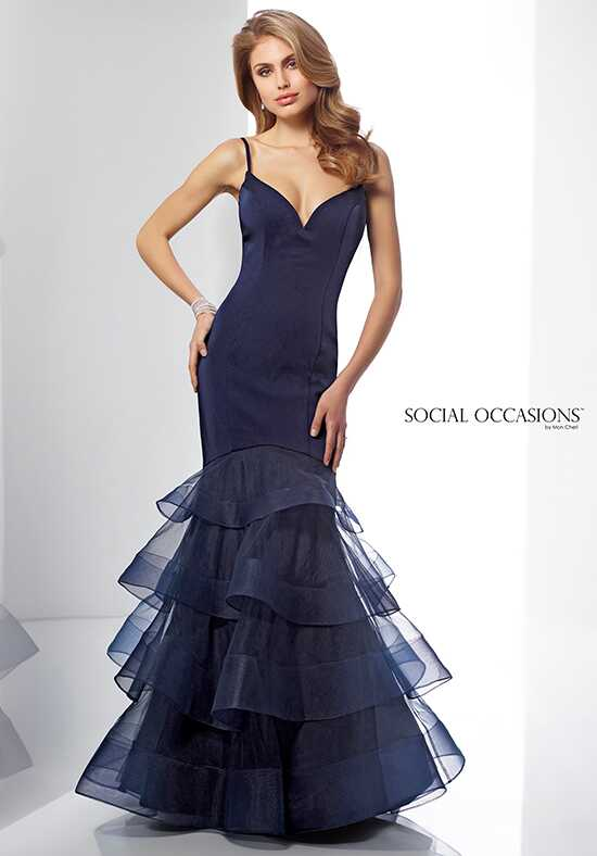Social Occasions by Mon Cheri 217839 Black Mother Of The Bride Dress