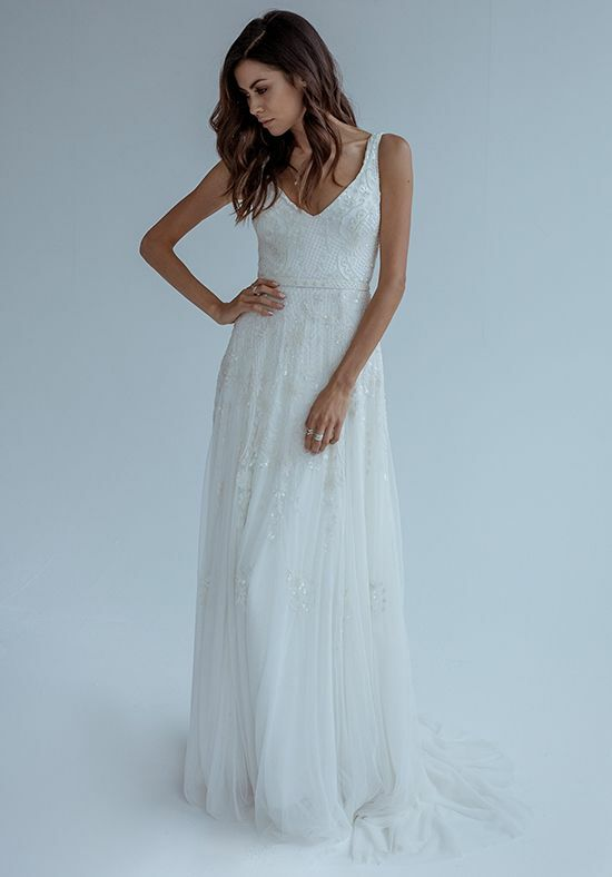 KAREN WILLIS HOLMES Beatrice Sheath Wedding Dress