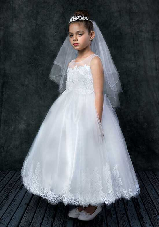Kid's Dream 7007 White Flower Girl Dress