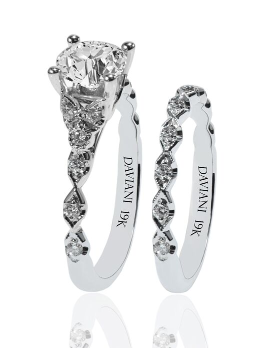 Daviani Love Links Collection DCR1193 White Gold Wedding Ring