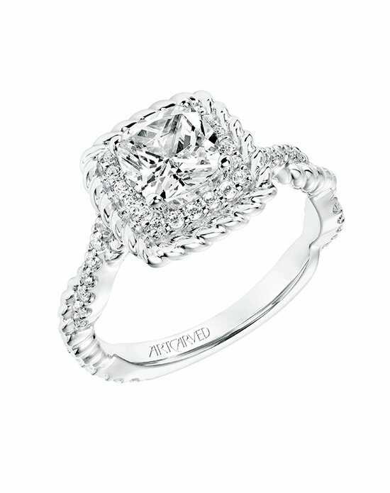 ArtCarved Cushion Cut Engagement Ring