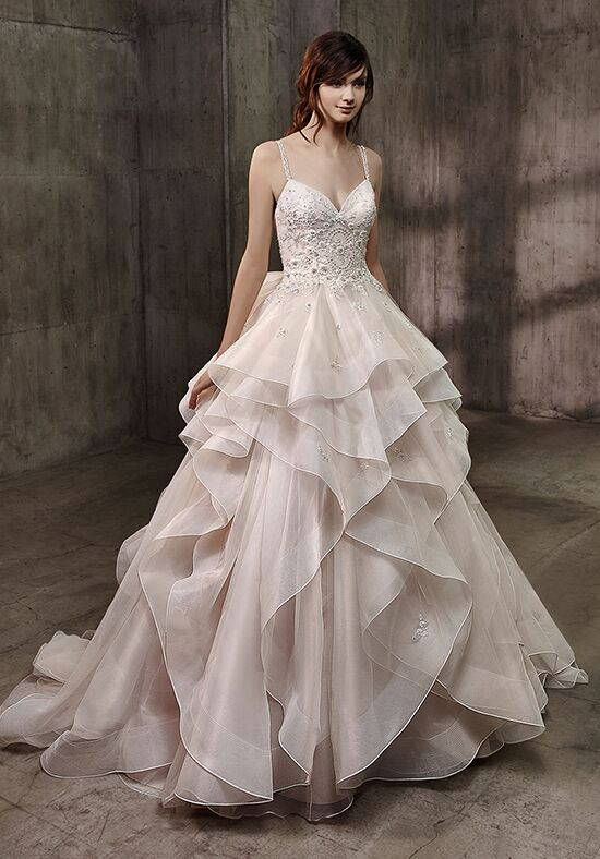 Badgley mischka belle alice wedding dress the knot for Wedding dress badgley mischka