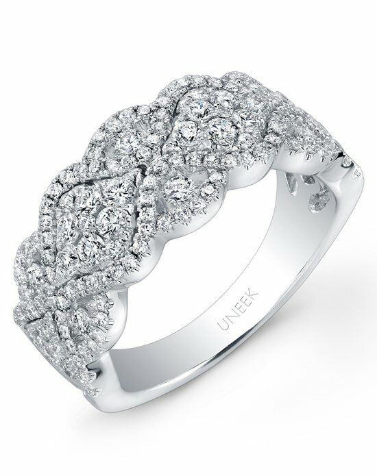 Uneek Fine Jewelry The Reticella Diamond Band/LVR104 White Gold Wedding Ring