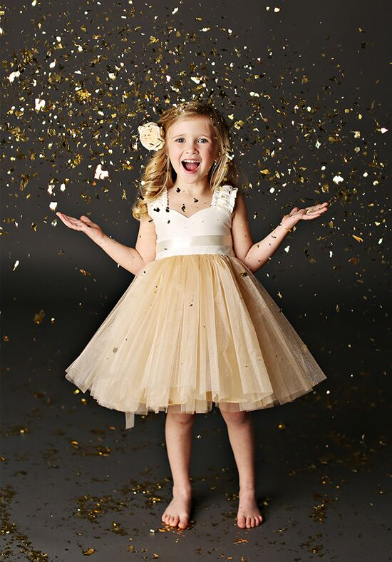 FATTIEPIE Grace Champagne Ivory Flower Girl Dress