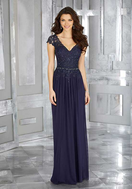 MGNY 71613 Silver Mother Of The Bride Dress