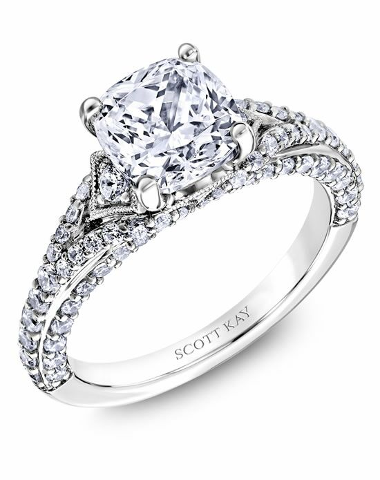 scott kay cushion cut engagement ring - Scott Kay Wedding Rings