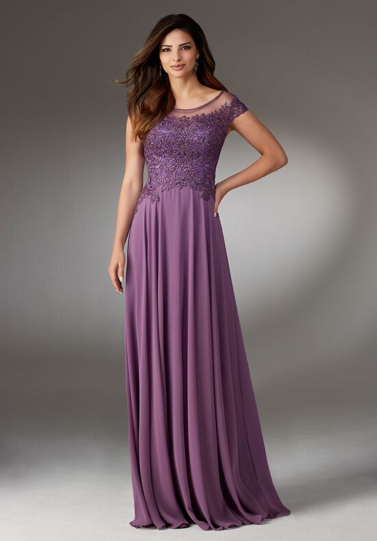 MGNY 71508 Purple Mother Of The Bride Dress