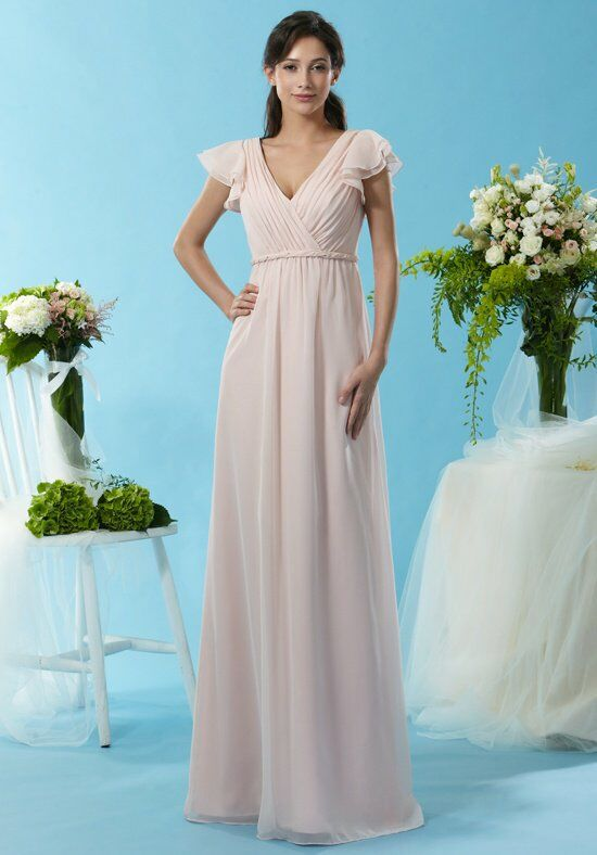 Eden Bridesmaids 7442 V-Neck Bridesmaid Dress