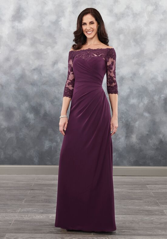 Beautiful Mothers by Mary's MB8025 Black Mother Of The Bride Dress
