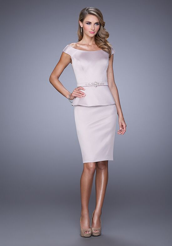 La Femme Evening 21637 Champagne Mother Of The Bride Dress