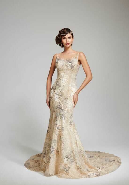 Matthew Christopher Thyme Sheath Wedding Dress