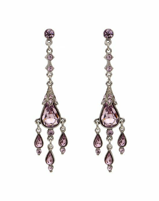 Thomas Laine Ben-Amun Vintage Teardrop Chandelier Earrings Wedding Earring photo