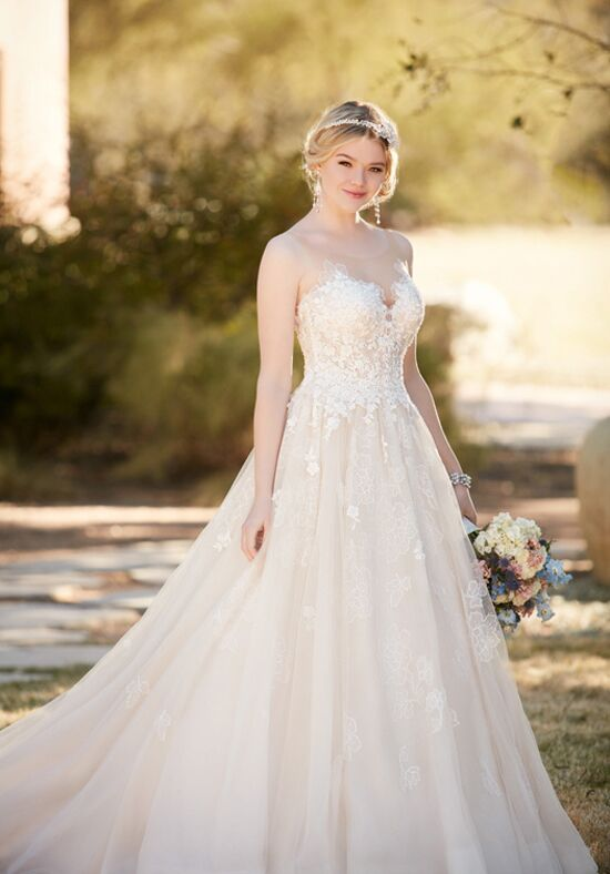 Essense of Australia D2126 Ball Gown Wedding Dress