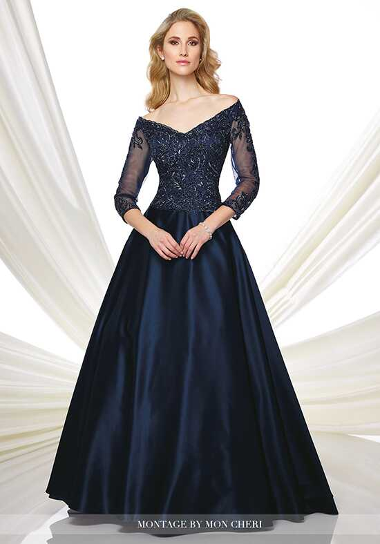 Montage by Mon Cheri 216980 Blue Mother Of The Bride Dress