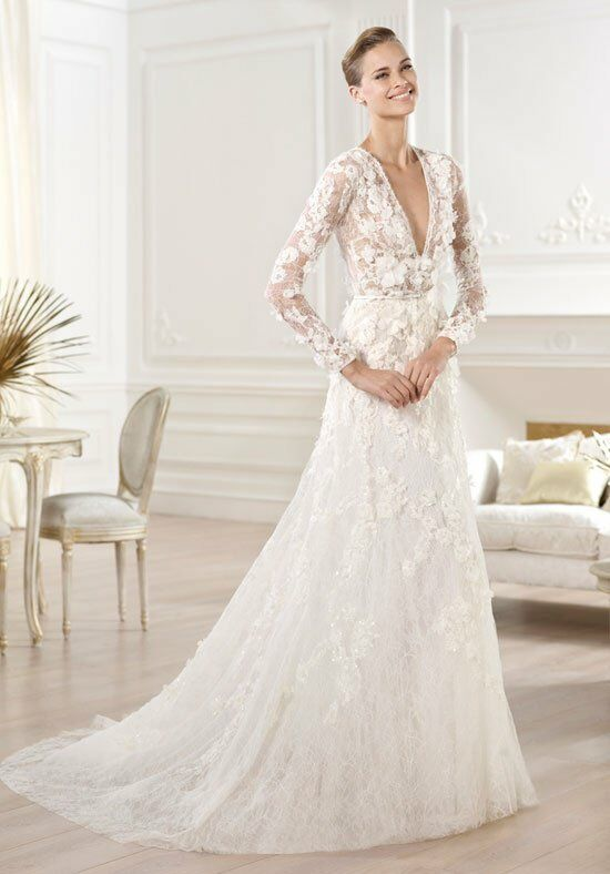 Elie by Elie Saab for Pronovias Crux A-Line Wedding Dress