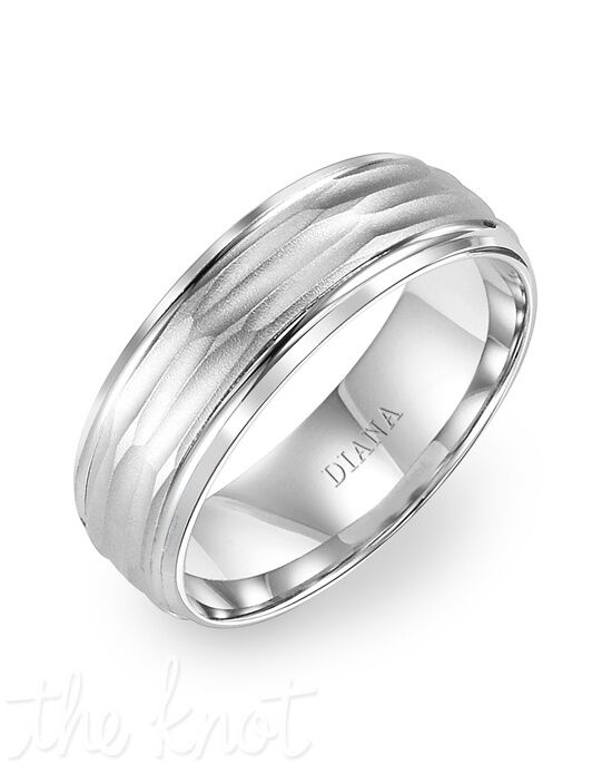 Diana 11-N7654W75-G Palladium, Platinum Wedding Ring