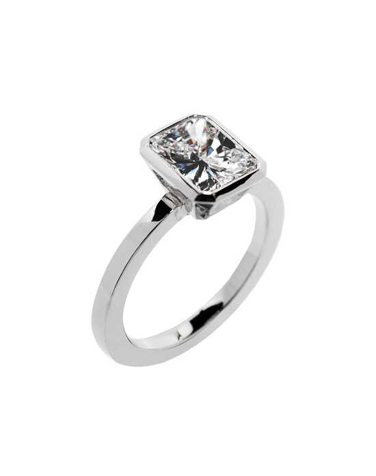 Platinum Jewelry Emerald Cut Engagement Ring