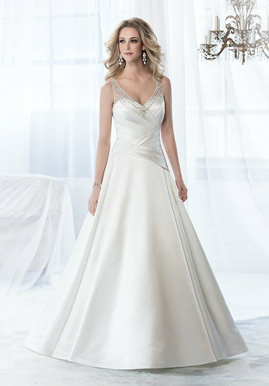 Jasmine collection f161054 wedding dress the knot for How do you preserve a wedding dress