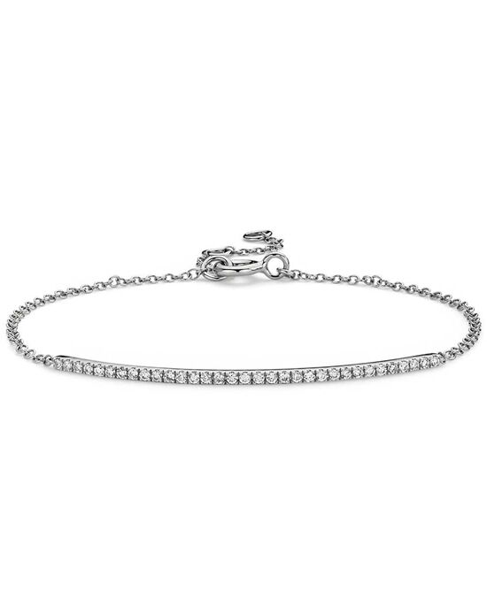 Blue Nile Mini Diamond Bar Bracelet in White Gold Wedding Bracelets photo