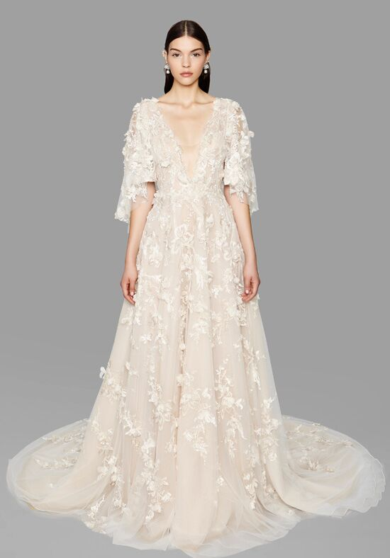 Marchesa estrella wedding dress the knot for Marchesa wedding dresses prices