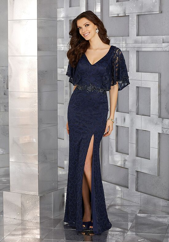 MGNY 71629 Blue Mother Of The Bride Dress